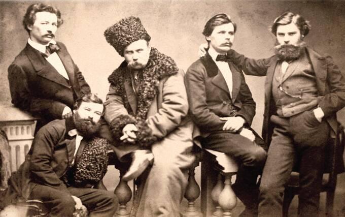 Т.Г.Шевченка у колі друзів